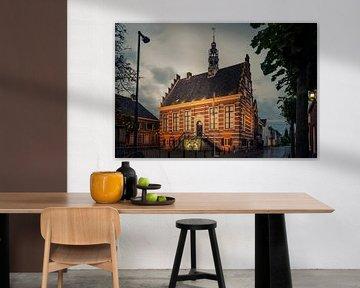 Historisches Rathaus IJsselstein bei Nacht von Tony Buijse