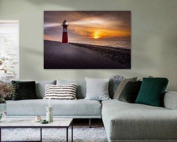 De Vuurtoren Noorderhoofd, Westkapelle, Zeeland van Dennis Donders