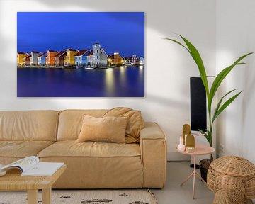 Reitdiephaven pendant l'heure bleue sur Ruud van der Aalst