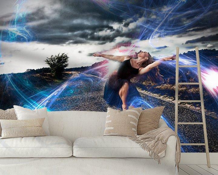 Sfeerimpressie behang: Ballet flash dance van Chau Nguyen