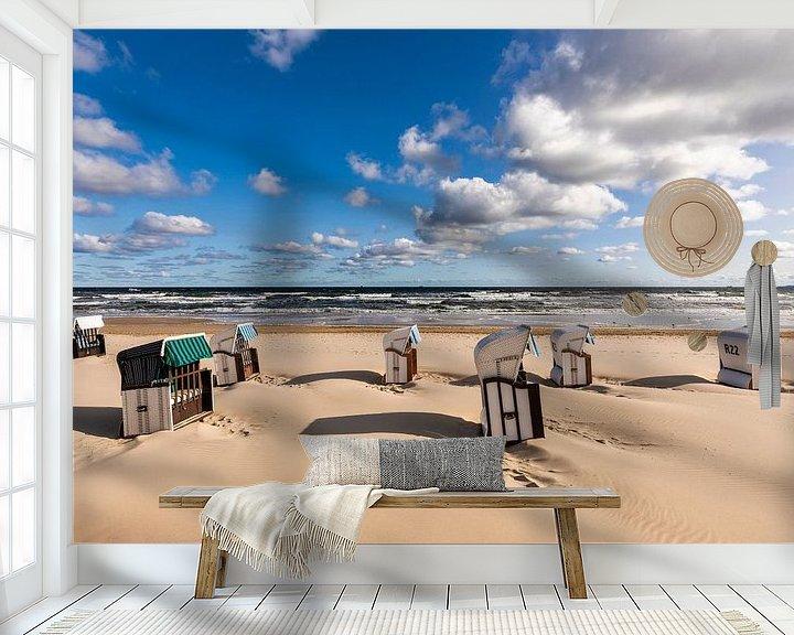 Sfeerimpressie behang: Droomstrand op het eiland Usedom van Werner Dieterich