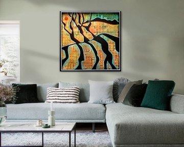 Abstrakte Landschaft von Ariadna de Raadt