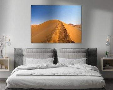 Rode zandduinen van de Sossusvlei, Namibië van Teun Janssen
