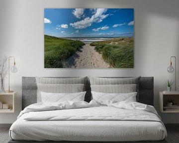 strandslag paal 20 strand Texel van Texel360Fotografie Richard Heerschap