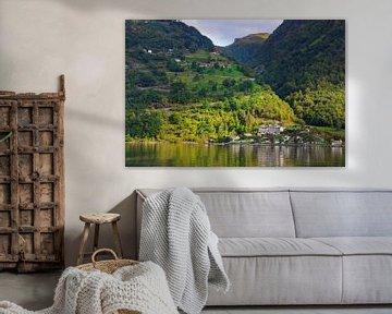 Geiranger im Geirangerfjord, Norwegen