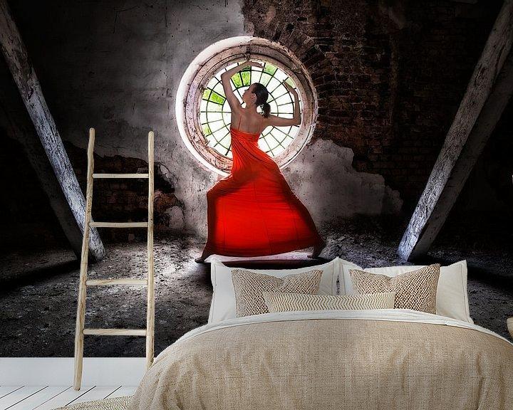 Beispiel fototapete: Lady in red von Bodo Gebhardt