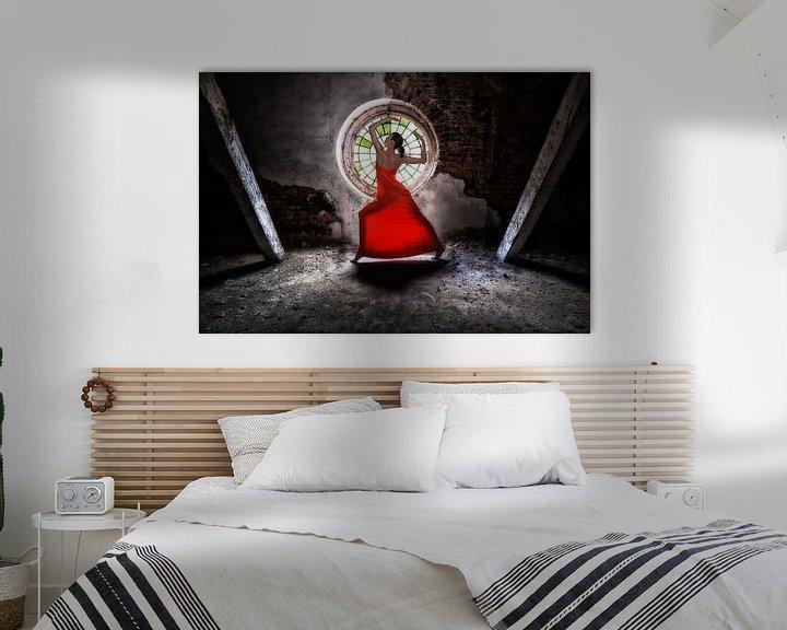 Beispiel: Lady in red von Bodo Gebhardt