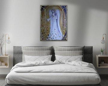 Fensterblick - blauer Engel von Christine Nöhmeier