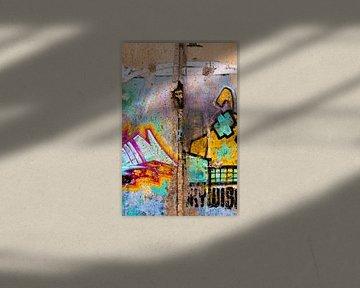 Graffiti Berlijnse muur van Anita Hermans