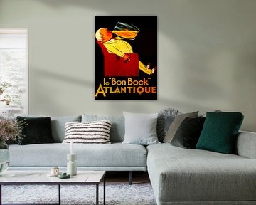 "Franse vintage bierreclame ""Le Bon Bock"" van Zeger Knops"