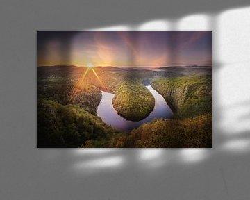 Vyhlídka Máj, de groene bocht in rivier de Moldau van Dennis Donders