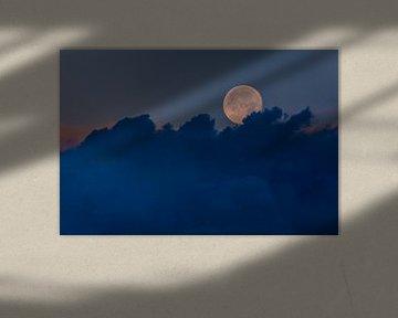 Volle maan in België van Part of the vision
