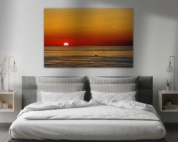 Zonsondergang in Jutland van Reinhard  Pantke