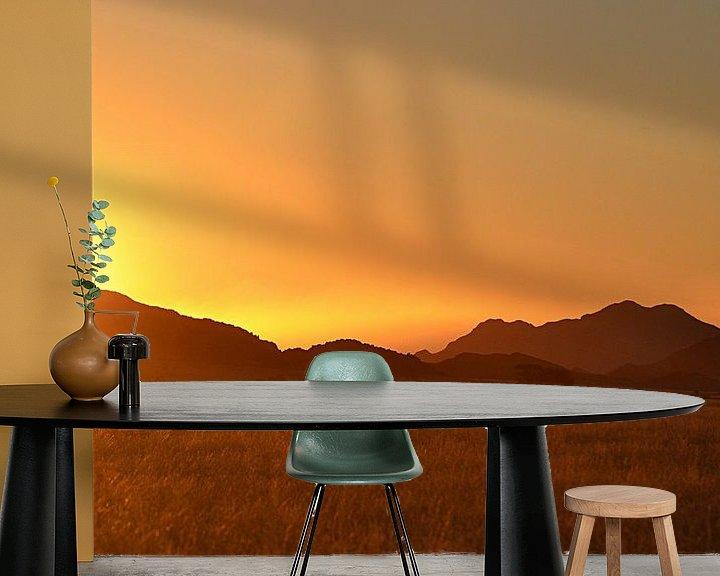 Sfeerimpressie behang: Sundowner in de Sossusvlei van JTravel