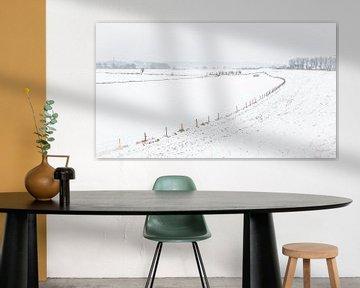 Nederlands winterlandschap van Hilda Weges