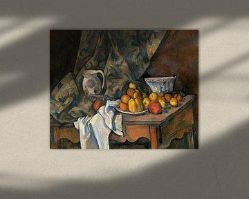 Paul Cézanne, Stillleben mit Äpfeln und Pfirsichen - 1905