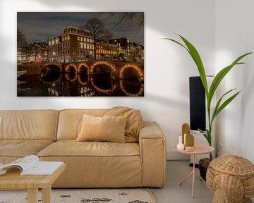 Blauwburgwal/ Herengracht Amsterdam von Gerard Koster Joenje (Vlieland, Amsterdam & Lelystad in beeld)