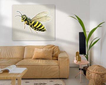 Große Wespe von Bianca Wisseloo