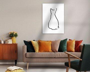 Sitzende Katze von Qeimoy