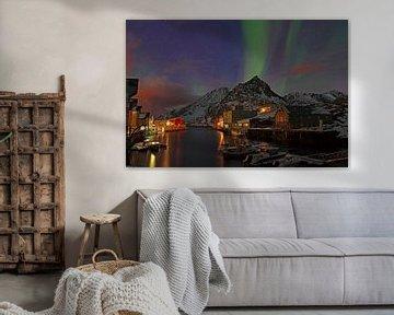 Noorderlicht in Nyksund van Reinhard  Pantke