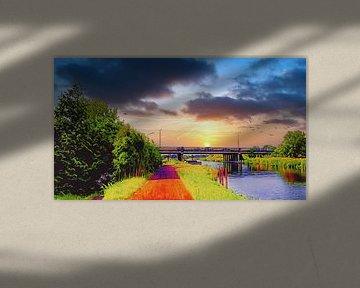 Nollenbrug bei Heerhugowaard von Digital Art Nederland