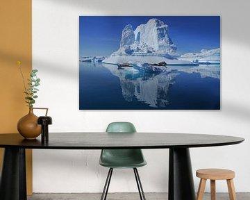 IJsberg in het oosten van Groenland van Reinhard  Pantke
