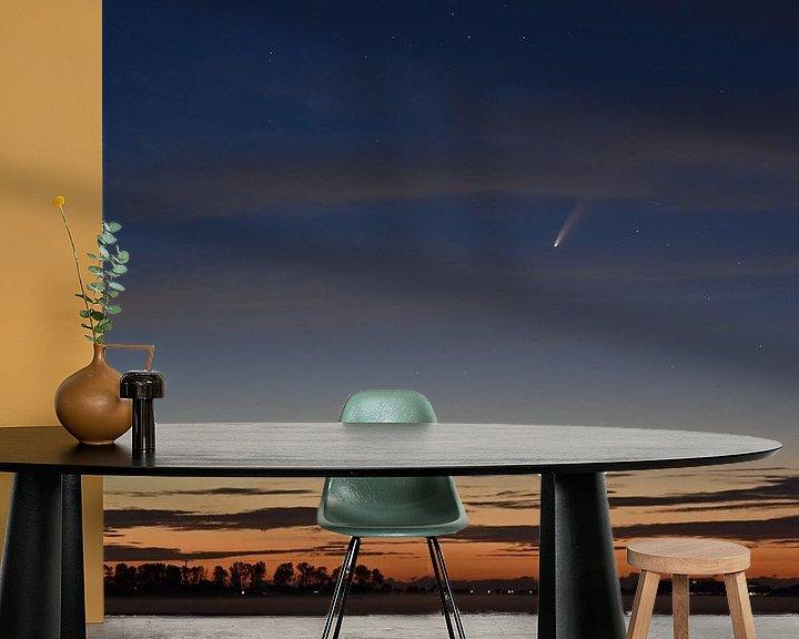 Sfeerimpressie behang: Komeet Neowise van Piet Kooistra