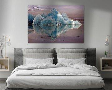 Blaues Eis von Reinhard  Pantke