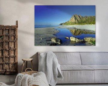 Aan het strand van Bleik van Reinhard  Pantke