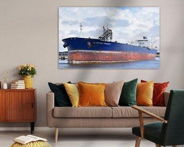Grand pétrolier à Rotterdam