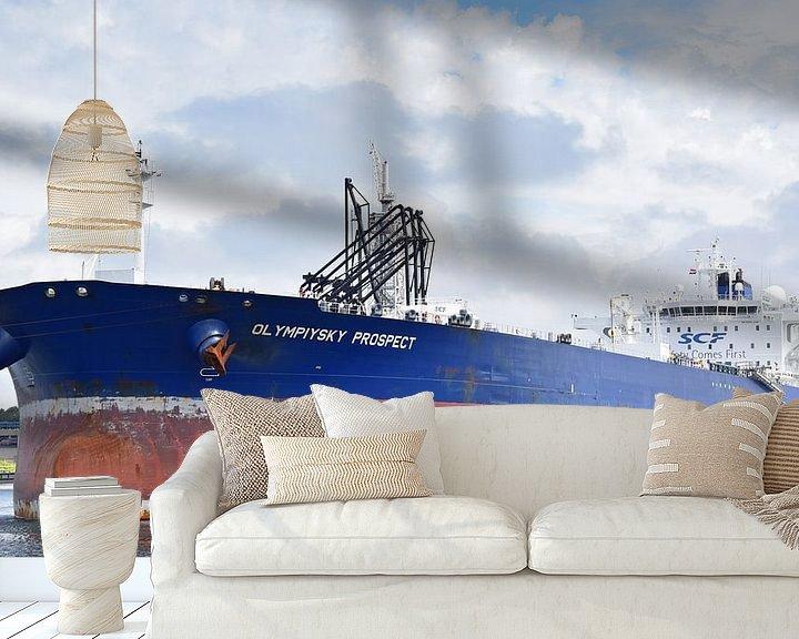 Impression: Grand pétrolier à Rotterdam sur Piet Kooistra