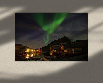 Nordlichter in Nyksund von Reinhard  Pantke