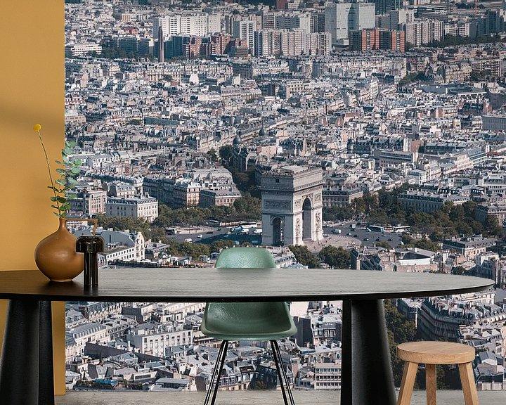 Beispiel fototapete: Blick vom Eiffelturm von Sven Frech
