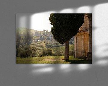 Toscaans landschap (Castelnuovo dell' Abate) van Edwin van Wijk