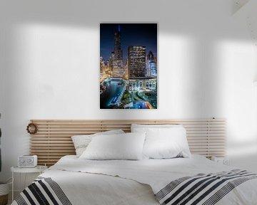 Good Night Chicago - Blick auf den Chicago River