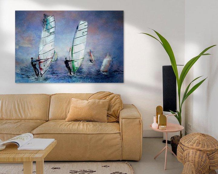Beispiel: Mit dem Wind in den Segeln (Kunst) von Art by Jeronimo