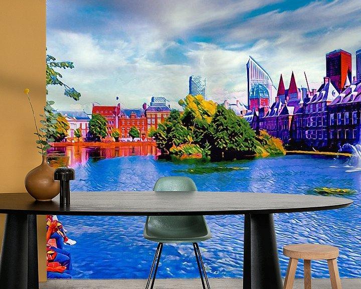 Beispiel fototapete: Hofvijver Den Haag von Digital Art Nederland