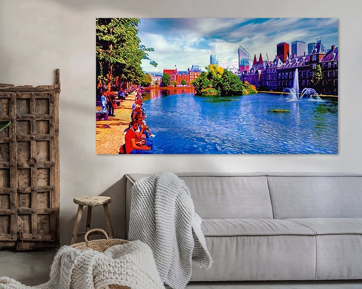 Beispiel: Hofvijver Den Haag von Digital Art Nederland