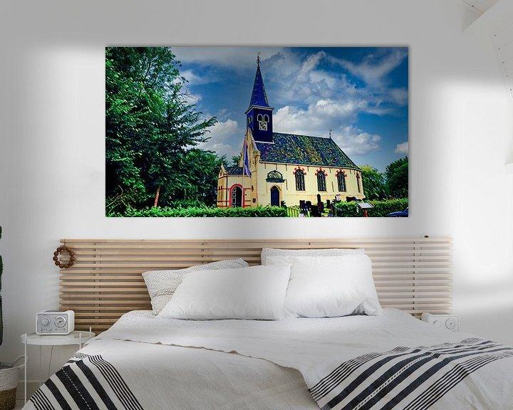 Beispiel: Kirche von Ferwoude, Friesland von Digital Art Nederland