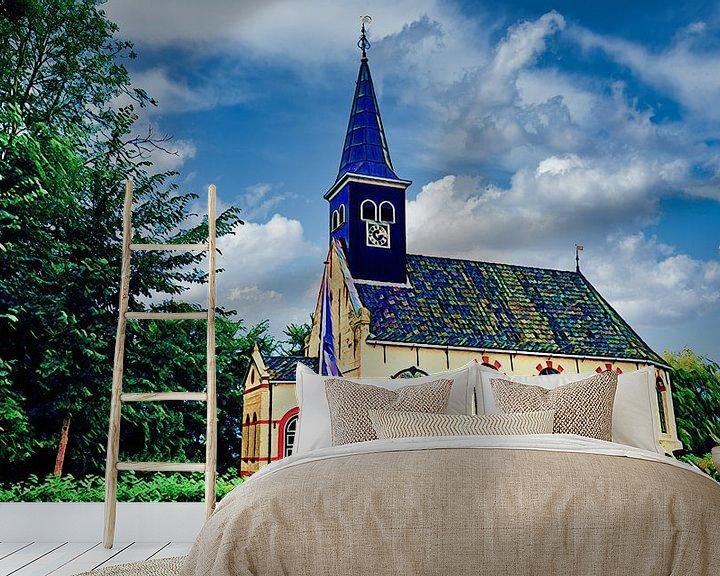 Beispiel fototapete: Kirche von Ferwoude, Friesland von Digital Art Nederland