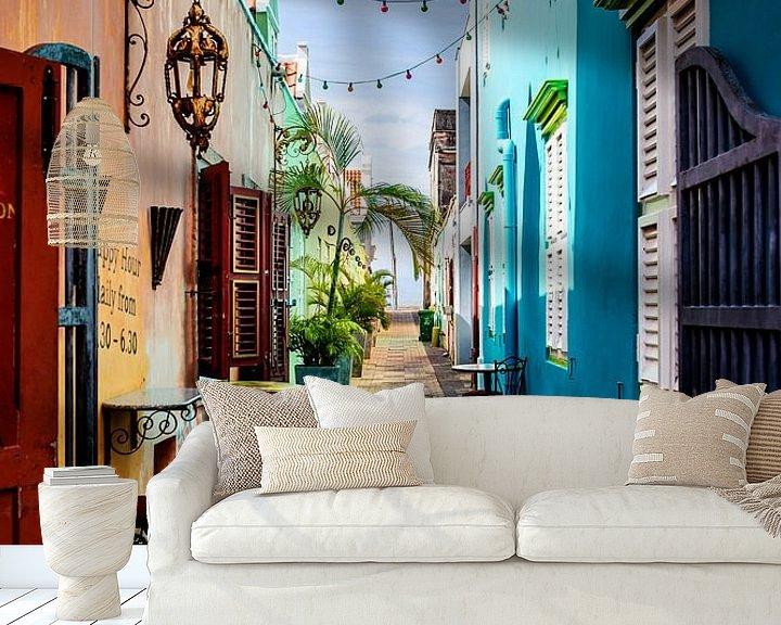 Beispiel fototapete: Allee Mundo Bizarro, Curacao von marloes voogsgeerd
