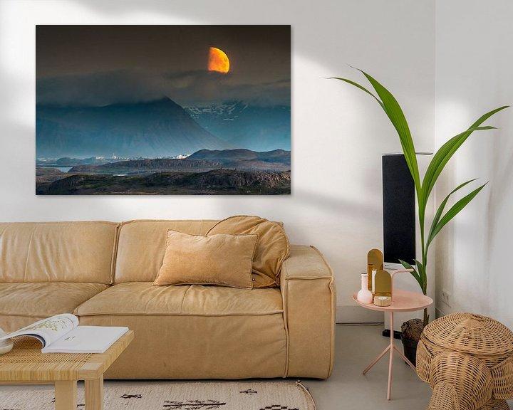 Beispiel: Mondaufgang Snaefelness, Island von Herman van Heuvelen