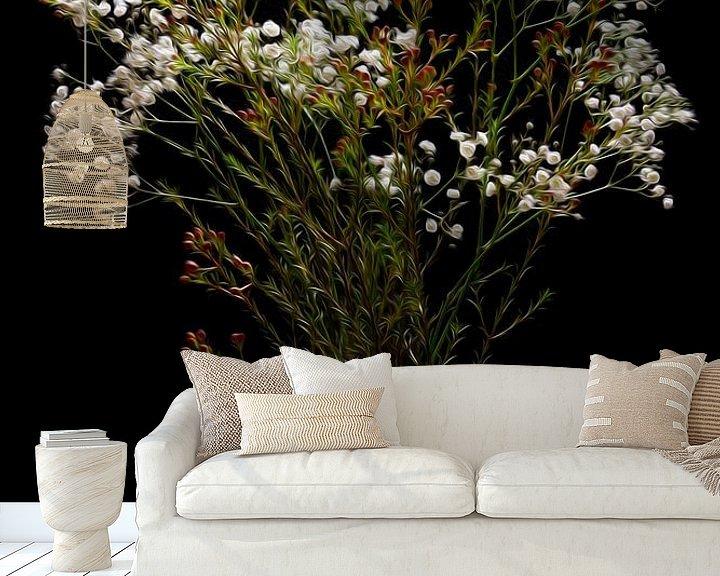 Beispiel fototapete: Stillleben Schleierkraut Blumen in Vase klassisch von Tessa Louwerens