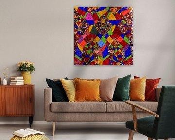 farbenfrohe digitale Kunst als Design für Ihr Zuhause Inneneinrichtung entweder zu Hause oder im Bür von EL QOCH
