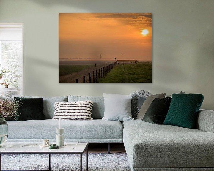Beispiel: Sonnenaufgang an einem Zaun von Martijn Tilroe
