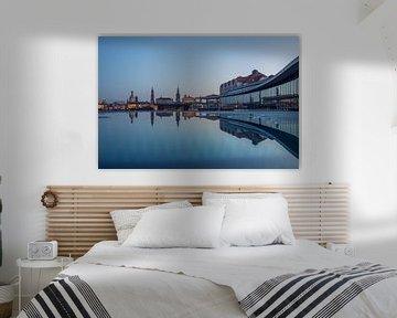 Skyline van Dresden van Sergej Nickel