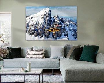 Bell 407 beim Flug über die Schweizer Alpen von Jimmy van Drunen
