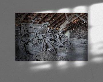 Vieux vélos dans un grenier délabré sur Sasja van der Grinten