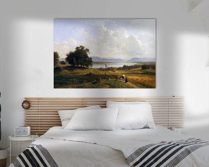Beispiel: Starnberger See von Pöcking aus gesehen, ADOLF HEINRICH LIER, 1856-1863 von Atelier Liesjes