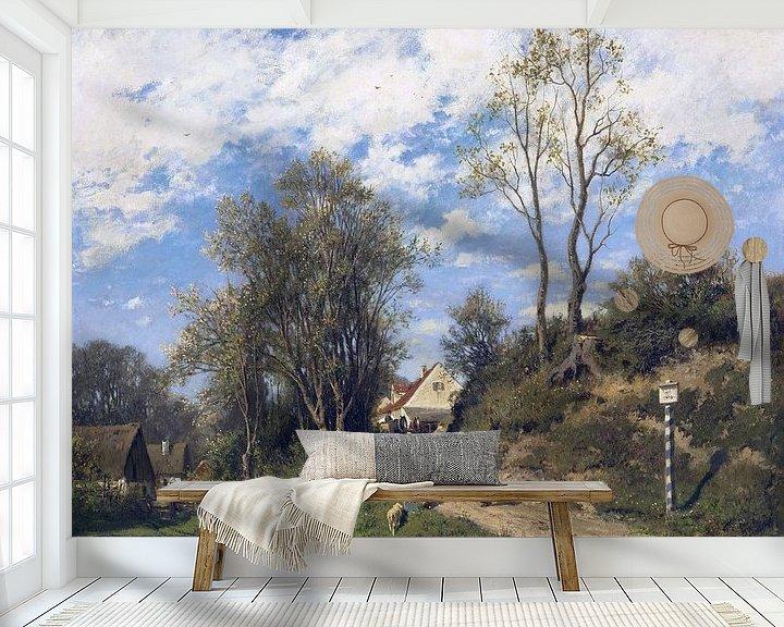Beispiel fototapete: Frühling, ADOLF HEINRICH LIER, Ca. 1873 von Atelier Liesjes